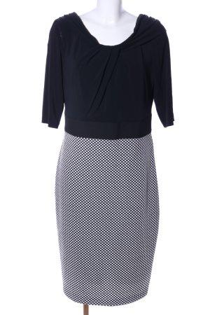 Apanage Robe fourreau noir-blanc motif de tache style d'affaires