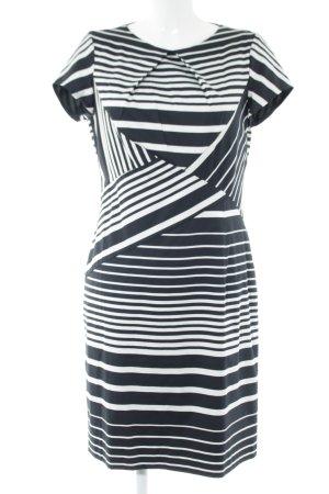 Apanage Vestido ceñido de tubo negro-blanco estampado a rayas elegante