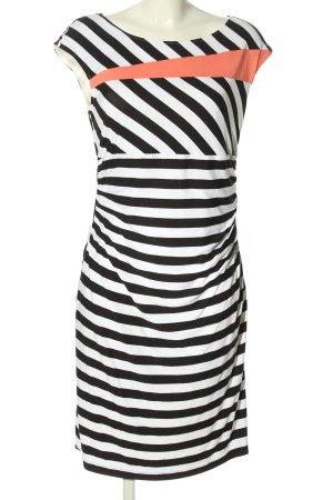 Apanage Robe fourreau blanc-noir motif rayé style décontracté