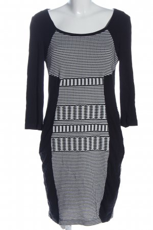 Apanage Sheath Dress black-white themed print casual look
