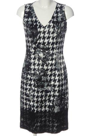 Apanage Etuikleid schwarz-weiß abstraktes Muster Casual-Look
