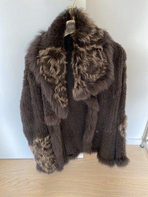 Apanage Futrzana kurtka Wielokolorowy