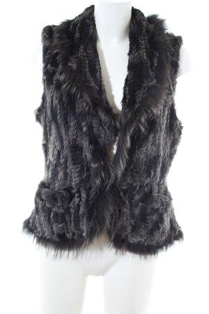Apanage Smanicato di pelliccia grigio chiaro stile casual