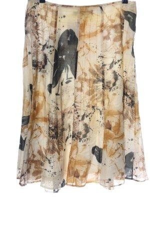Apanage Rozkloszowana spódnica brązowy-czarny Na całej powierzchni