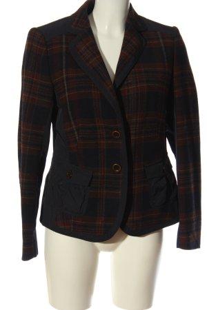 Apanage Blazer corto nero-marrone motivo a quadri stile professionale