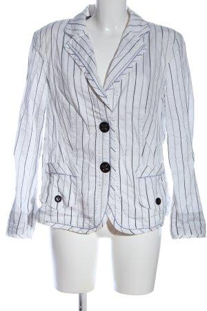 Apanage Kurz-Blazer weiß-schwarz Streifenmuster Casual-Look