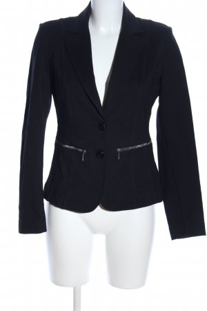 Apanage Kurz-Blazer schwarz Casual-Look