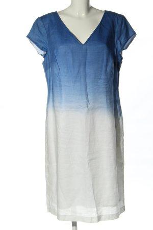 Apanage Robe à manches courtes bleu-blanc gradient de couleur