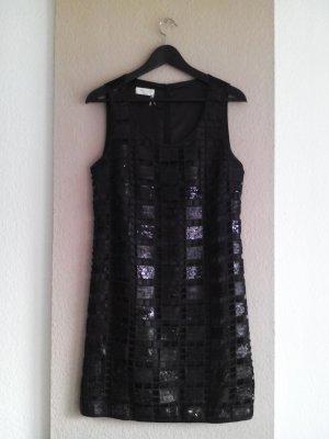 Apanage kurzes Kleid in schwarz mit Paillettenstickerei, Größe M, neu