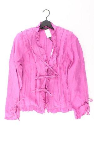 Apanage Leinen Cardigan mit Schleifen Größe 40 Langarm pink