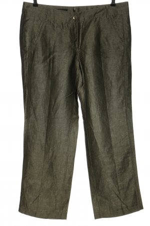 Apanage Linnen broek khaki gestippeld casual uitstraling