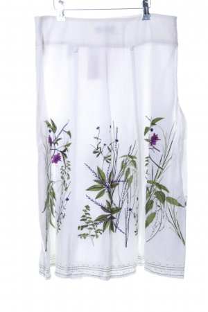 Apanage Linen Skirt flower pattern business style