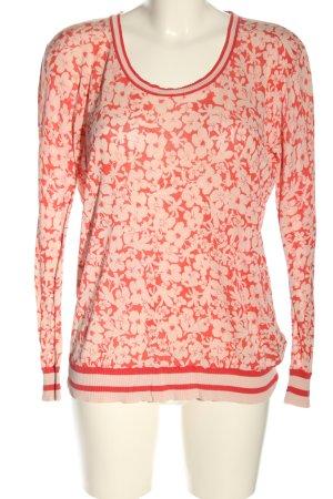 Apanage Manica lunga rosa-rosso stampa integrale stile casual
