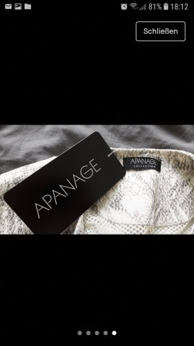 Apanage Blouse Jacket white-grey