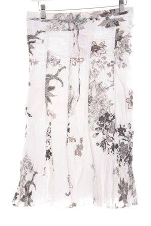 Apanage Jupe mi-longue motif floral élégant