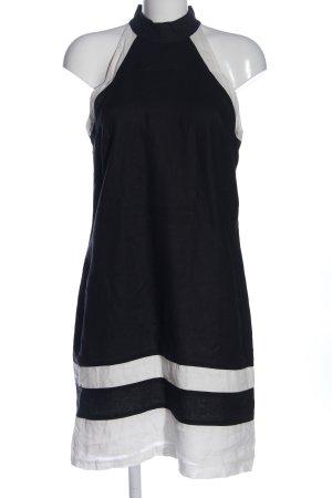 Apanage Robe dos-nu noir-blanc style décontracté
