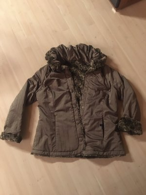 Apanage noire Jacke mit Fell