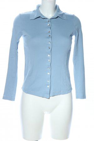 Apanage Camiseta tipo polo azul look casual