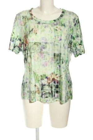 Apanage Print-Shirt abstraktes Muster Casual-Look