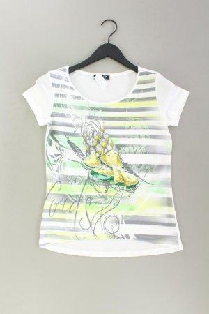 Apanage Printshirt Größe 36 Kurzarm weiß