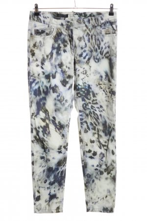 Apanage Drainpipe Trousers abstract pattern casual look