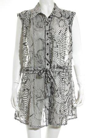 Apanage Bluzka z falbankami biały-czarny Ekstrawagancki styl
