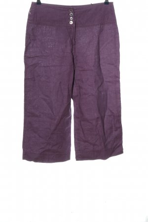 Apanage Stoffhose lila Casual-Look