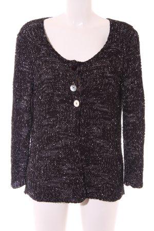 Apanage Veste en tricot noir-blanc moucheté