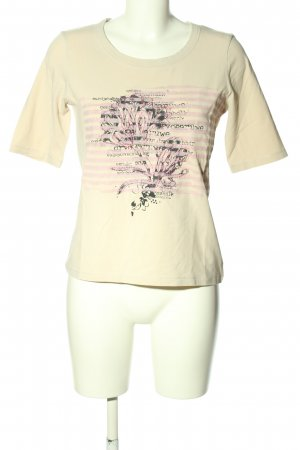 Apanage T-Shirt creme Motivdruck Casual-Look