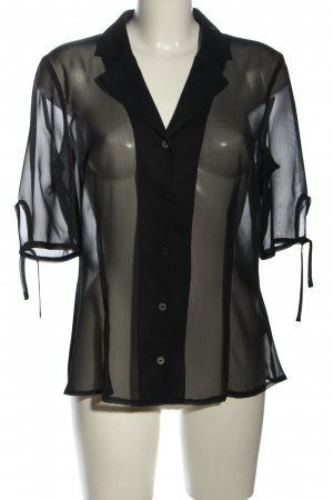 Apanage Transparenz-Bluse schwarz Casual-Look