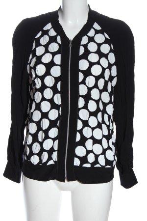 Apanage Kurtka przejściowa czarny-biały Wzór w kropki W stylu casual