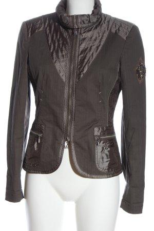 Apanage Kurtka przejściowa brązowy Siateczkowy wzór W stylu casual
