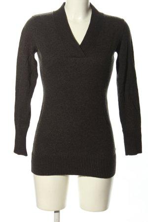 Apanage V-Ausschnitt-Pullover hellgrau meliert Casual-Look