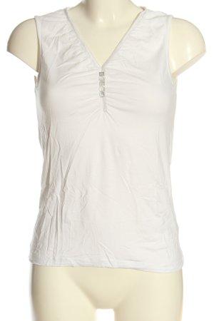 Apanage V-Ausschnitt-Shirt weiß Casual-Look