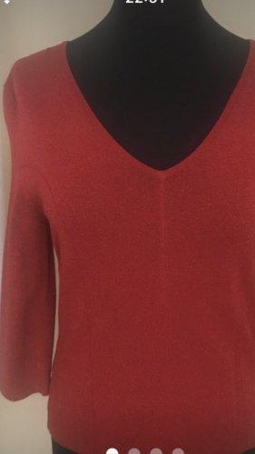 Apart Impressions Sweter z dzianiny czerwony Wiskoza