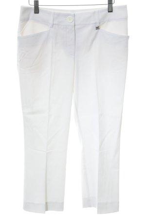Apart 3/4-Hose weiß schlichter Stil
