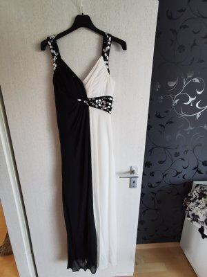 Apart Abendkleid Gr. 36 Schwarz / Weiß