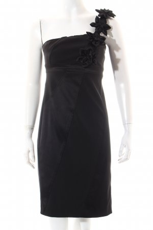 Apart Vestido de noche negro estampado a rayas elegante