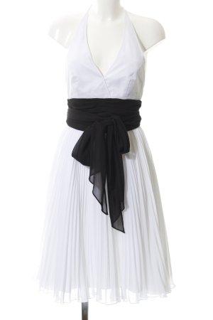 Apart Avondjurk wit-zwart elegant