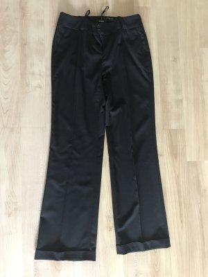 Apart Pantalone da abito nero Cotone
