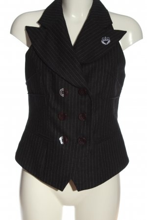 Apart Waistcoat black-light grey striped pattern business style