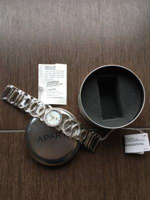 APART Armbanduhr Silberfarben Steel Zirkonia Steine - NP 110€