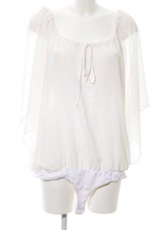Apart Bodyblouse wit straat-mode uitstraling