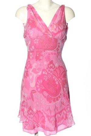Apart Abito blusa rosa motivo astratto stile casual
