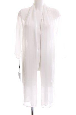 Apart bodenlanger Mantel weiß Elegant