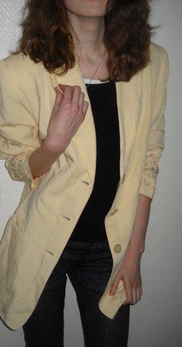Apart Boyfriend Long Blazer Jacke Leinen lachs nude Stickerei 34 36 38 XS S H M