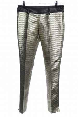 Apart Pleated Trousers gold-colored weave pattern extravagant style