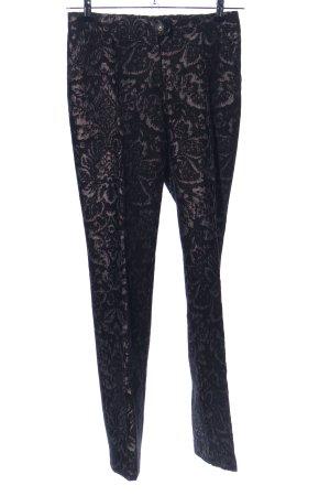 Apart Pantalon à pinces noir-bronze motif de fleur style festif