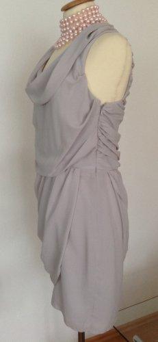 Apart Chiffon jurk zilver