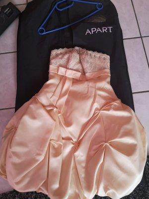 Apart Vestido de noche color oro-crema